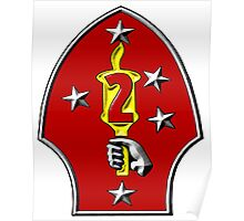The Logo of the U.S. 2nd Marine Division Poster