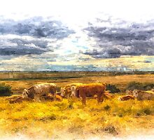 The Friendly Cows Art by DavidHornchurch