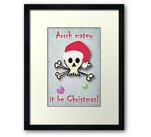 Pirate christmas Framed Print