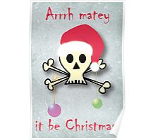 Pirate christmas Poster