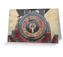 The Burrell Road Locomotive. Greeting Card