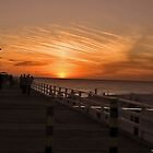sun set  at grange jetty by SUMIT TANDON