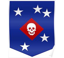The Logo of the Marine Raiders, USMC Poster