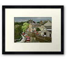 The Canal basin in Skipton. N. Yorkshire, England, UK, 1980s. Framed Print