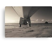 Morning Sea Pier Canvas Print
