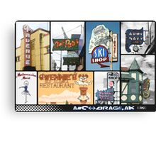 ANCHORAGE, AK iconic Canvas Print
