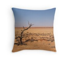 Claypans of Simpson Desert Throw Pillow