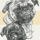 Pug Father & Son by BarbBarcikKeith