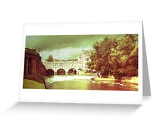 Rolling on a river, Bath - England Greeting Card