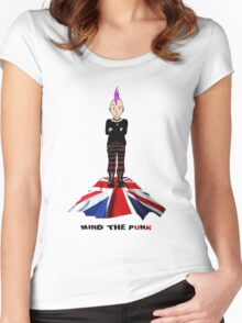 MIND THE PUNK (London Calling) Women's Fitted Scoop T-Shirt