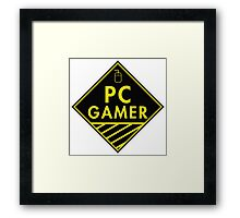 Pc Gaming (yellow) Framed Print