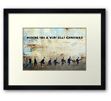 Ministry of Silly Christmas - WITH TEXT Framed Print