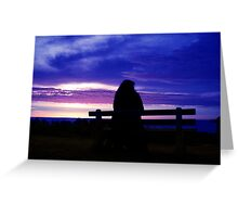 Silhouette on the beach Greeting Card