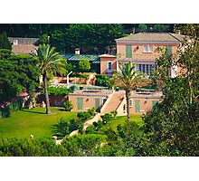 Luxury mansion on the gulf of Saint-Tropez - The French Riviera Photographic Print
