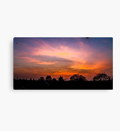 Painterly Sunset  Canvas Print