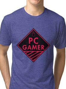 Pc Gaming (Red-Pink) Tri-blend T-Shirt