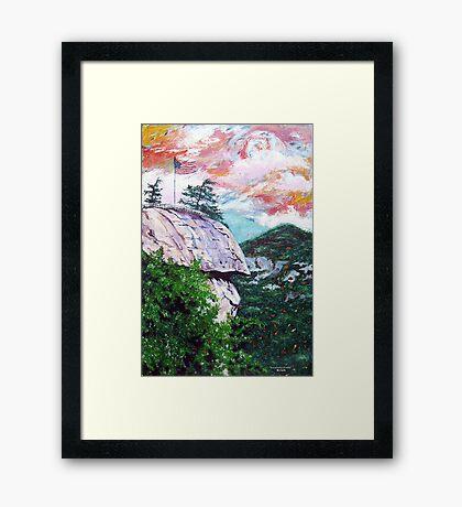 'Chimney Rock' Framed Print