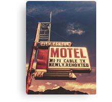 Retro Vintage Motel Sign Canvas Print