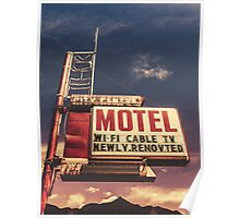 Retro Vintage Motel Sign Poster
