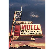 Retro Vintage Motel Sign Photographic Print
