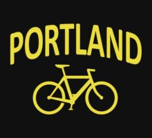 I Bike Portland, Oregon One Piece - Short Sleeve