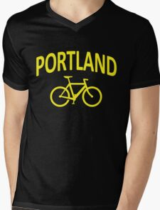 I Bike Portland, Oregon Mens V-Neck T-Shirt