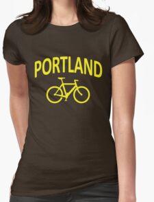 I Bike Portland, Oregon Womens Fitted T-Shirt