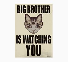 Orwellian Cat is Watching You Womens Fitted T-Shirt