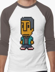8-Bit Abed Nadir Men's Baseball ¾ T-Shirt