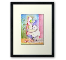 SILLY PANDA I HAVE NO FEELINGS Framed Print
