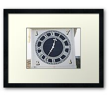 The clock  Framed Print