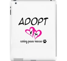 Caring Paws Rescue (pink) iPad Case/Skin