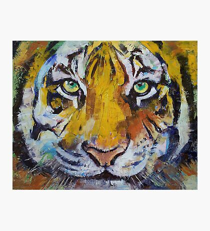 Tiger Psy Trance Photographic Print