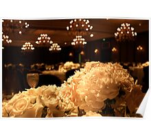 Flowers and Chandeliers Poster