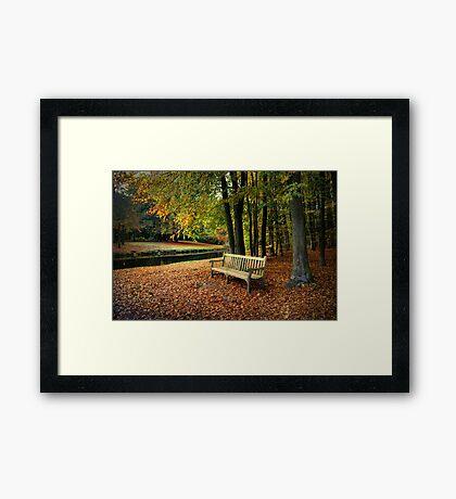 Sit Down And Enjoy Framed Print