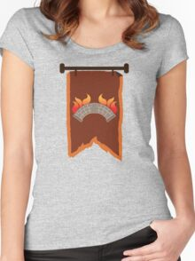 BANNER CREST SIGIL burning bridge BRIDGEBURNERS Women's Fitted Scoop T-Shirt