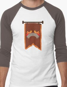 BANNER CREST SIGIL burning bridge BRIDGEBURNERS Men's Baseball ¾ T-Shirt
