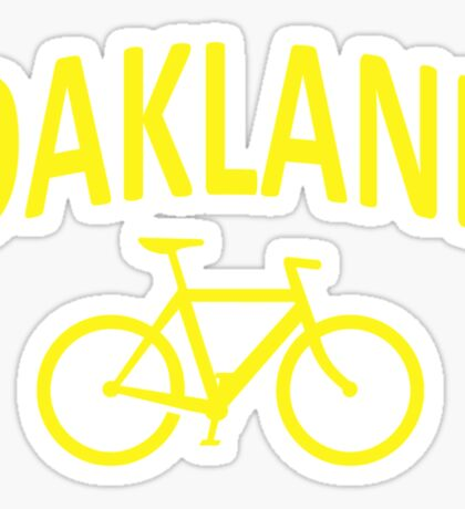 I Bike Oakland, California Sticker