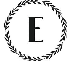 Monogram Wreath - E by verbose