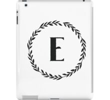 Monogram Wreath - E iPad Case/Skin