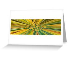 Colour Rays Greeting Card