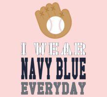 I Wear Navy Blue Kids Tee