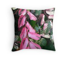 PINK LEAFS  Throw Pillow