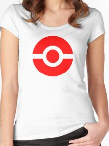 Pokeball Icon Red Women's Fitted Scoop T-Shirt