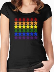 Gay Pride (Meeple Edition) Women's Fitted Scoop T-Shirt
