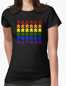 Gay Pride (Meeple Edition) Womens Fitted T-Shirt