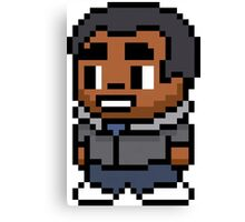 8-Bit Troy Barnes Canvas Print