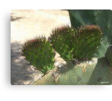 Fresh Cactus Pads Enhanced Canvas Print