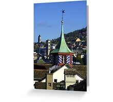 Colourful steeple Greeting Card