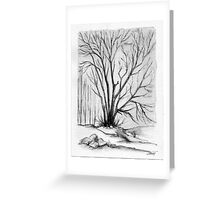 FALL TREE - AQUAREL AND ECOLINE Greeting Card